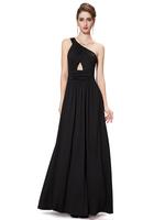 2014 Sexy Black One Shoulder Tube Top High Waist Evening Dress Prom Formal Dress Under $60