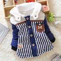 winter kid warm jackets kids boys children baby boys striped warm outwear coats Down 2014 KT549R