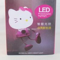 Cute 3D Hello Kitty LED Decoration Photoreceptor NightLight Bed Lamp Home Decoration Light Cartoon Light