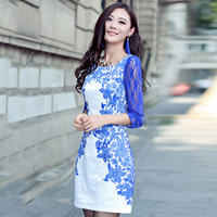 White porcelain in middle age women's summer dress code significantly thinner in Lady Dress sleeve new sub Hitz 2014