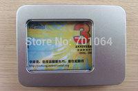 10units Credit card usb flash drive metal package