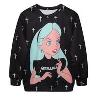 Sudaderas Unisex Sweatshirts Winter Unisex Nun Printed Jersey Sweater Casual Harajuku Fashion Style Chandals De Marca Mujer