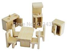 Mini Wooden Dollhouse Furniture  Accesscory, Kitchen(China (Mainland))