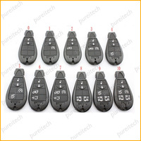 free shipping car key smart card remote key shell replacements whole sale no panic button