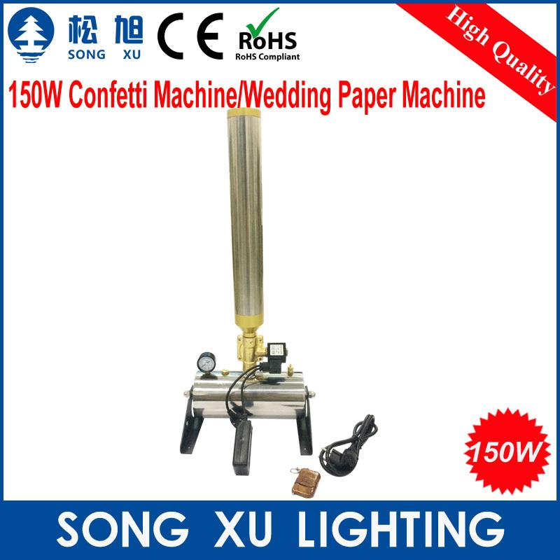 2pcs 150W Confetti Machine/Wedding Paper Machine for stage Wedding colorful confetti cannon machine/SX-CM150(China (Mainland))