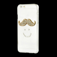 IMPRUE Handmake Case with beard Pattern Diamond Bling Case Cover For Iphone 6 Free Shpping