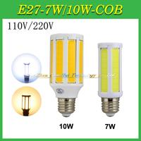 Newest Grand Power LED Corn Lamps 7 COB 9 COB LEDs With AC 110V 220V / 7W 10W / E14 E27 B22 Base Selectable High Lumen LED Bulb