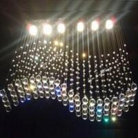 Free Shipping modern crystal lamp L750*W300* H700mm 6pc LED GU10 S shape