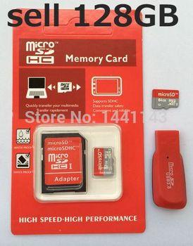 Лучшее качество 128 ГБ микро-sd-карта TF флэш-класс 10 с оригинальной упаковке + адаптер + подарок для чтения карт памяти Q7