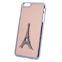 Newest High Quality Mobile Phone Cover 3D Metal Tower Decoration Plating Skinning Hard Case for iPhone 6