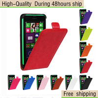 Crazy Horse Texture Vertical Flip Leather Case for Nokia Lumia 630