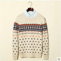 The date is the set of head men's T-shirt thin sweater male male tide men sweater coat