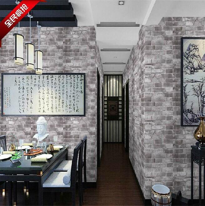 Schwarze Backstein Tapete : 3D Brick Wallpaper for Room Walls