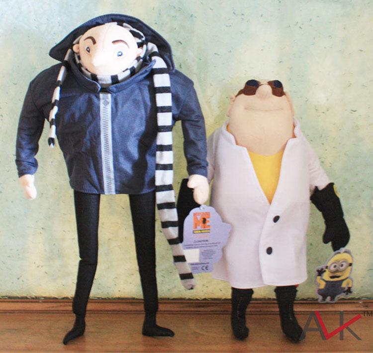 "Despicable Me Plush Toys 14"" Gru 13"" Doctor Nefario Collectible Doll Minion Villain Papa Cuddly Stuffed Animal Toy DM10070(China (Mainland))"
