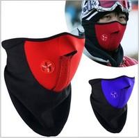 2014 Winter MOTO Ski Snowboard Outdoor mask Neoprene Neck Warm Half Face Mask  Veil Windproof For Sport Bike Bicycle 100pcs/lot