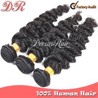 Peruvian Virgin Hair Extension 3pcs Rosa Hair Products 100% Unprocessed Virgin Human Hair Weave Peruvian Deep Wave Hair Weft