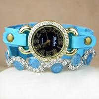 New Luxury Vintage Elegant Rhinestone Pearl  Bracelets Women Watch,gift wholesale watches Retro wrist watch,Free shipping