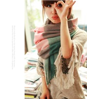 2014 new   Winter Scarf Fashion Wool Spain Desigual Scarf Women Plaid Thick Scarves Shawl for Women