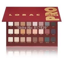 2014 New Lorac Mega Pro Palette MEGA Eyeshadow Makeup Set 32 Color RED Eye Shadow make up Free Shipping(China (Mainland))