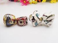 Wholesale Costume Fashion Jewelry Enamel Ring 4pcs