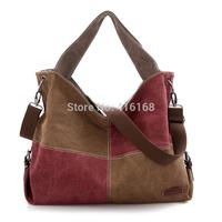 New canvas shoulder messenger bag casual handbag Korean version of the influx of European and American big bag bag Post