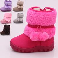 2014 Fashion plus colors Warm Shoes Children's Boots Winter Boy Girls Warm Winter Flat Snow Boots 21-30