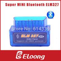 Eloong  super mini elm327 bluetooth OBD2 Scanner ELM 327 Bluetooth Smart Car Diagnostic Interface ELM 327 V2.1 Scan P048
