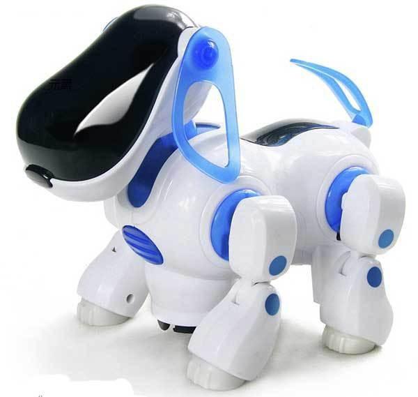 2015 Newest Amazing Robot Dog Lovely Intelligent Electronic Walking Dog Puppy Action Toy Music Shine Pet Kids Baby Free shipping(China (Mainland))