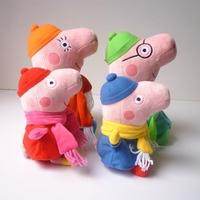 4PCS/Lot Cute Cartoon Movie Peppa Dolls Toys 19/30cm George Peppa Pig Family Plush Dolls Baby Kids Girls Boys Stuffed Dolls Toys