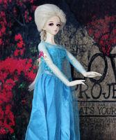 1/3 1/4 1/6 BJD Wig Frozen Snow Super Dollfile SD DOD DZ DK Long Braid Toy Accessories Free Silicone Cap