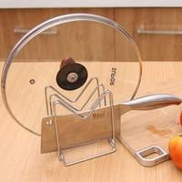 Stainless steel shelf kitchen cabinet storage rack tool holder chopping block rack drain rack cutting board rack jarhead rack