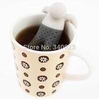 Wholesale Hot Sale 100pcs/lot Mr.Tea Infuser / Mr.Tea Strainers Tea Sets/silicone fred Mr Tea, tea-100
