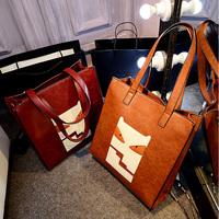 autumn and winter vintage shoulder female big bags  women's handbag vertical messenger bag
