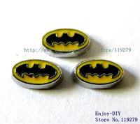Free shipping! 10PCS Batman Floating charms DIY Accessory Fit for Floating charms Locket FC290