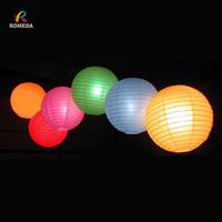 Free Shipping, 8inch (20cm) 10pcs/lot Mixed colour Chinese paper lantern lamps round wedding paper lantern Led paper lantern
