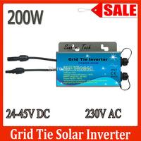 Sale!200W 24-45VDC 190-260VAC 50/60Hz Waterproof IP67 Grid tie micro inverter with communicative function