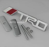 Metal Auto Front Hood Front Grilles Badge Emblems TRD For  Racing Sports RAV4 CROWN REIZ COROLLA Camry Yaris VIOS highlande