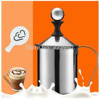 400ML Stainless Steel Double Mesh Milk Frother Milk Foamer Milk Creamer
