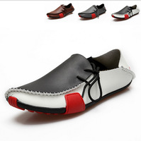 Sneakers for Men Casual Shoes Genuine Leather 2015 Driving Moccasins Slip On men shoe Footwear Boat Shoes Loafers Men Shoes Q259