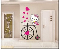 Hello Kitty Sticker diy wall stickers ,Wall Decal ,Wallpaper,wall sticker for kids rooms adhesive home decoration 57*33 cm