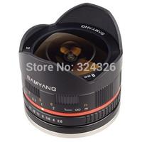 SAMYANG wide Angle fisheye lens 8 mm f/E for fuji X-T1,E-M1,E-M2,X-A1and so on ,for fuji  Fx mount