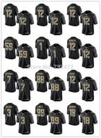 wholesale  Black Salute To Service Jersey 18 Manning ,12 luck,12 Brady,59 Kuechly,1 Newton,12 Dodgers,7 Kaepernick,88 Bryant