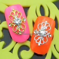 sh563 metalic studs nail art 50pcs free shipping wholesale glitter nail tips brand jewelry accessries plated silver ,black