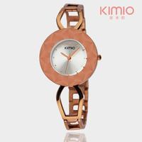 2015 Latest Fashion KIMIO Brand Women's Bracelet Rose Gold Watches Waterproof High Quality Quatz Movement Watches Free Shipping