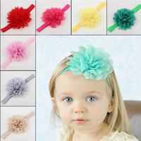 Baby Girl Hair Accessories Head Band Big Fabric Flower Headbands Children Acessorios Para Cabelo Shabby Faixa De Cabelo CZ6019