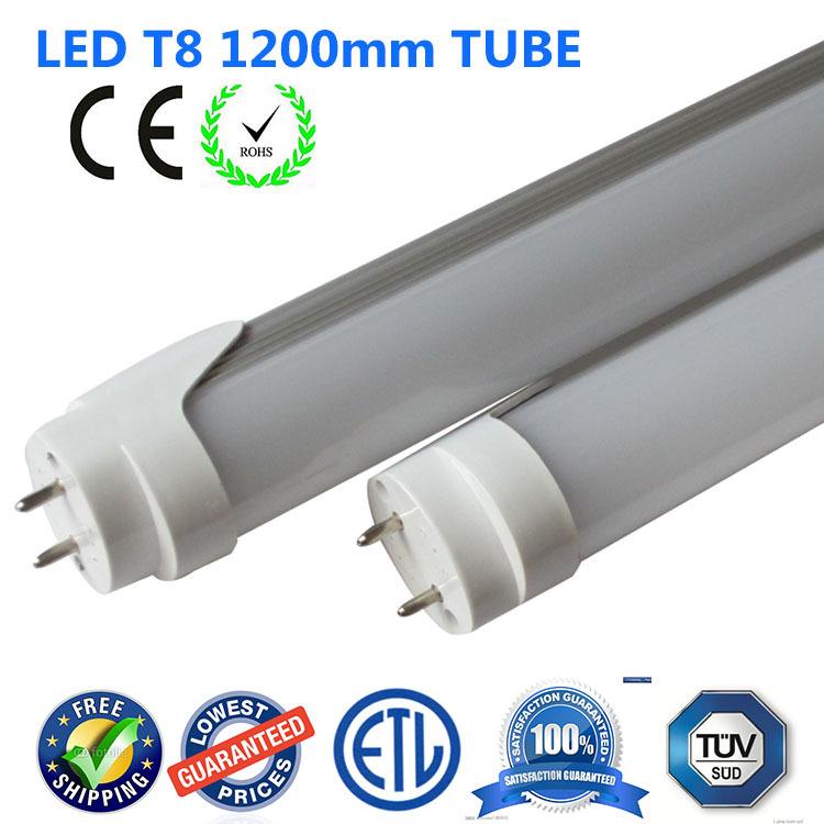 Good quality LED T8 tube 1200mm 18W 1.2m 120cm 4feet Light Lamp T8 Led tube fluorescent lighting ETL cETL CE ROHS(China (Mainland))
