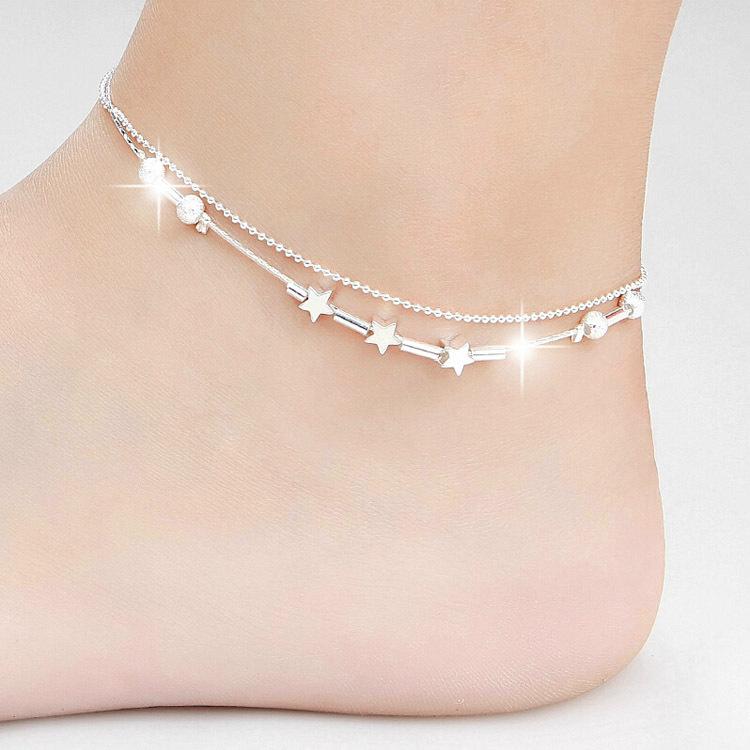 Pure Silver Anklets Pure Silver Anklets Plain