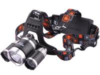 Boruit RJ-3000 3*CREE T6 LED 920Lm 4 Mode High Power Rechargeable Headlamp
