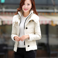 100% white duck down winter 2014  small fur collar down jacket with a short paragraph on behal 877 jacket