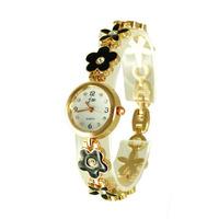 Female gender gold and silver bracelet wrist watch,flower and star bracelet beautiful design S0031